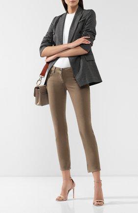 Женские джинсы BRUNELLO CUCINELLI хаки цвета, арт. M0H43P5491   Фото 2
