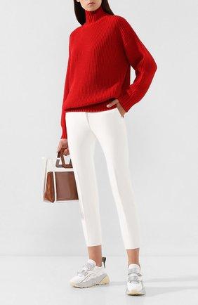 Женские брюки MSGM белого цвета, арт. 2741MDP26A 195600 | Фото 2