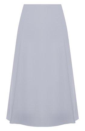 Женская юбка из смеси шелка и шерсти LORO PIANA голубого цвета, арт. FAI8557 | Фото 1
