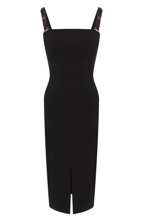 Женское платье TOM FORD черного цвета, арт. ABJ353-FAX021 | Фото 1 (Материал подклада: Шелк; Длина Ж (юбки, платья, шорты): До колена; Рукава: Без рукавов; Случай: Формальный)