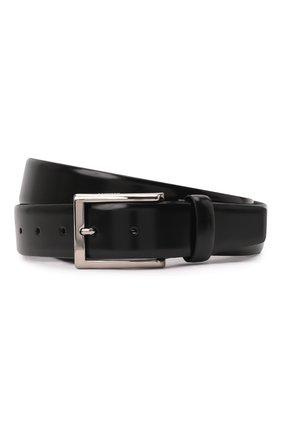 Мужской кожаный ремень BARRETT черного цвета, арт. 62B511.1/SPAZZ0LAT0 | Фото 1