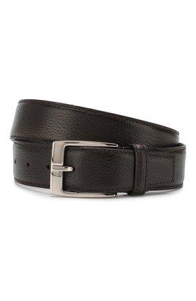 Мужской кожаный ремень BARRETT темно-коричневого цвета, арт. 61B507.7/ELK | Фото 1