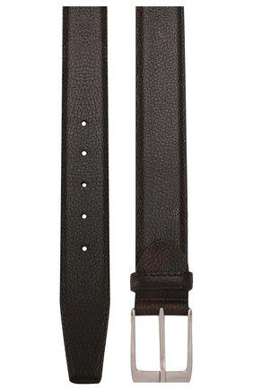 Мужской кожаный ремень BARRETT темно-коричневого цвета, арт. 61B507.7/ELK | Фото 2