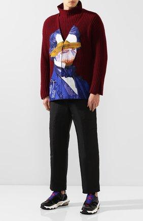 Мужская кардиган из смеси шерсти и кашемира valentino x undercover VALENTINO бордового цвета, арт. SV0KA00L5QV | Фото 2