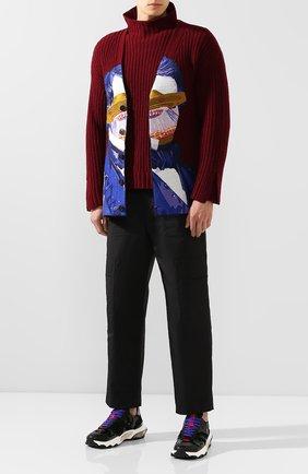 Мужской свитер из смеси шерсти и кашемира VALENTINO бордового цвета, арт. SV0KC05J5QN | Фото 2
