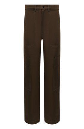 Мужской хлопковые брюки VALENTINO хаки цвета, арт. SV0REA655LA | Фото 1