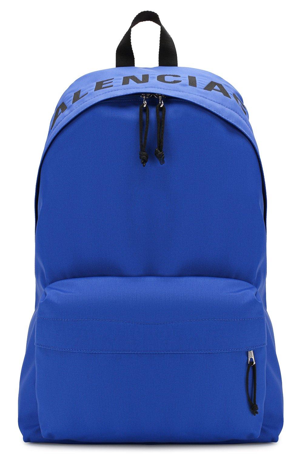 Мужской текстильный рюкзак wheel BALENCIAGA синего цвета, арт. 507460/HPG1X | Фото 1