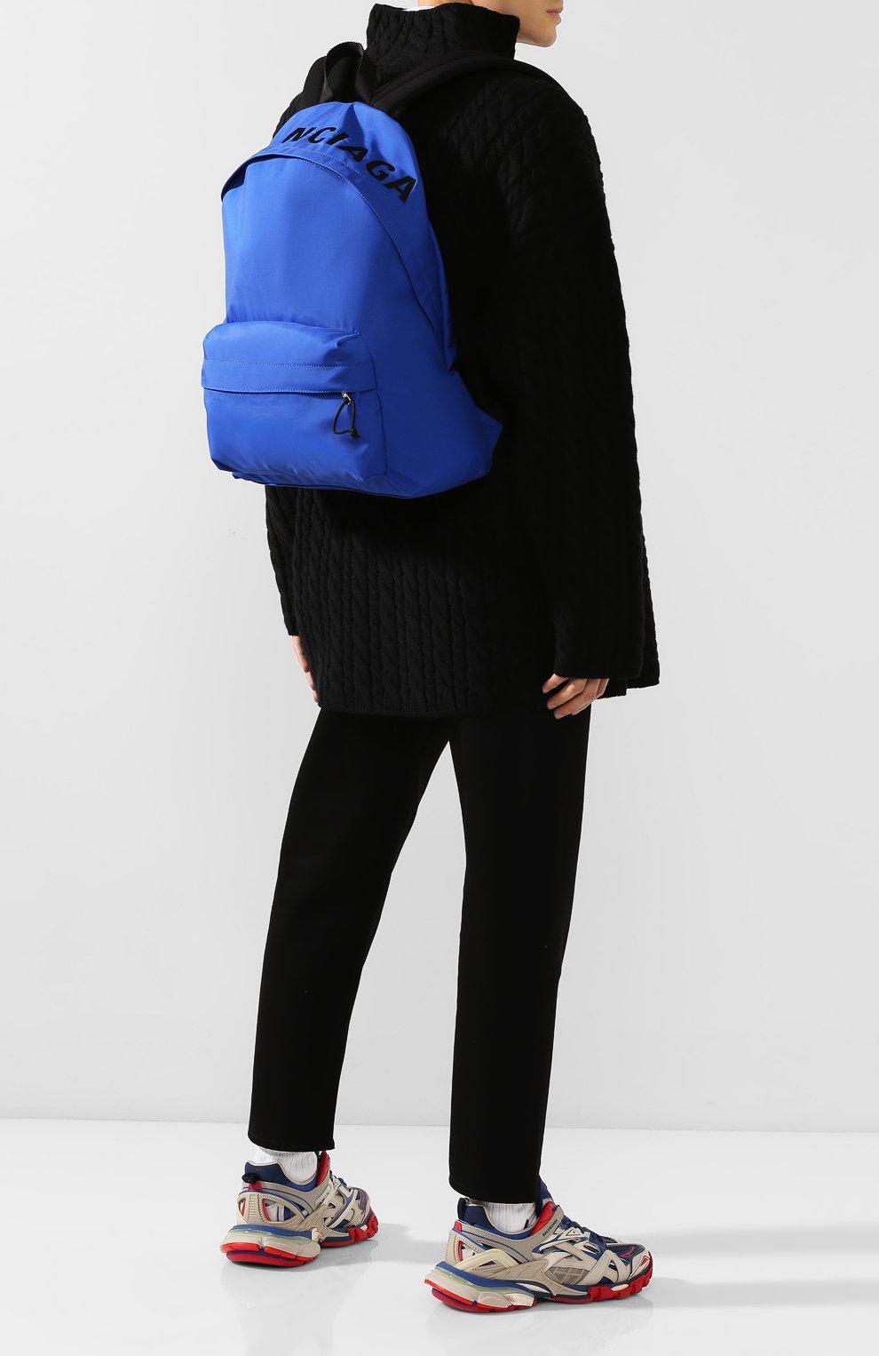 Мужской текстильный рюкзак wheel BALENCIAGA синего цвета, арт. 507460/HPG1X | Фото 2