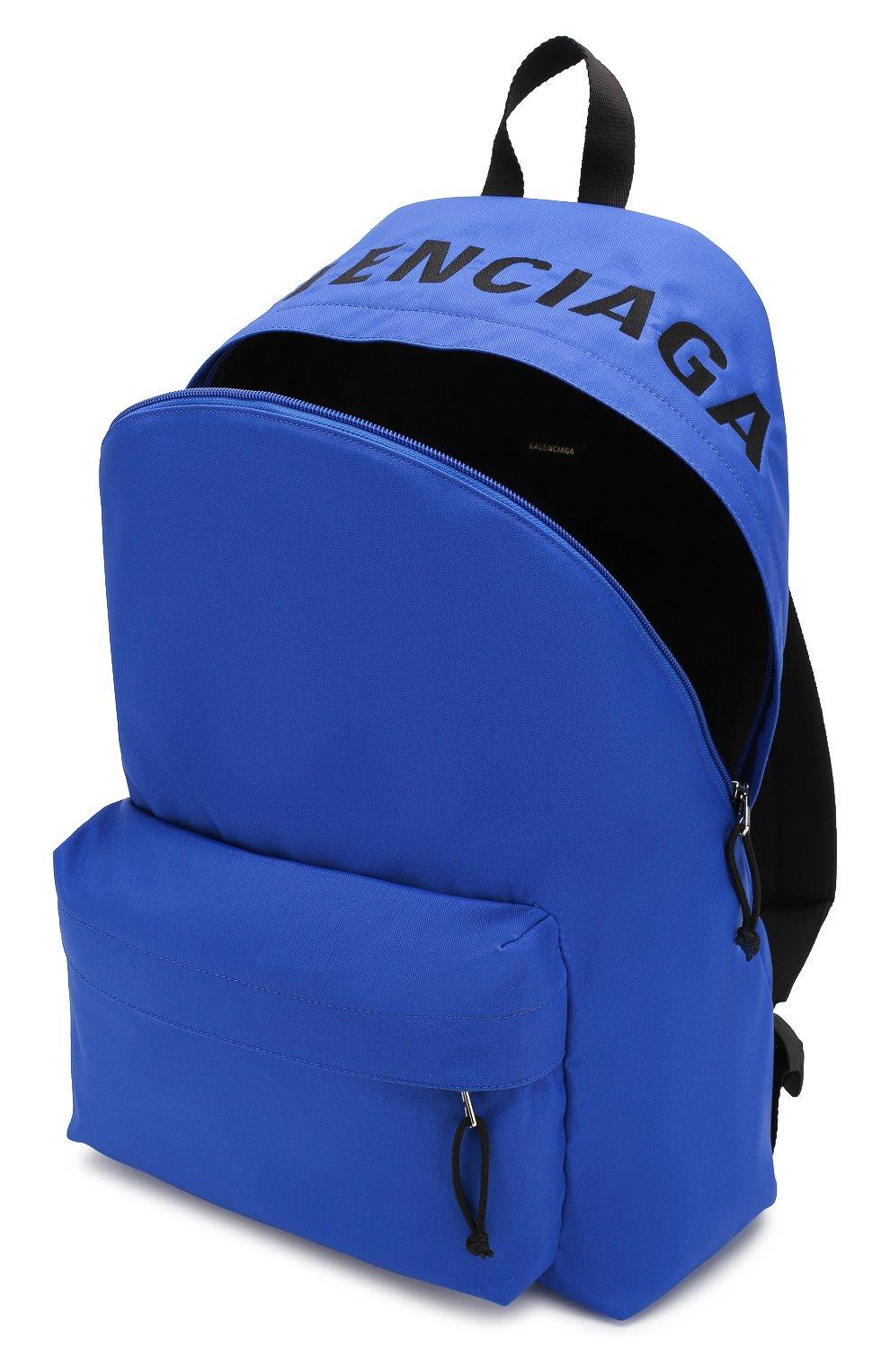 Мужской текстильный рюкзак wheel BALENCIAGA синего цвета, арт. 507460/HPG1X | Фото 4