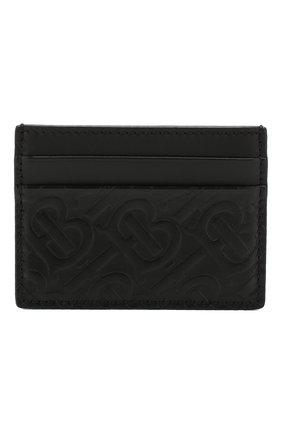 Мужской кожаный футляр для кредитных карт BURBERRY черного цвета, арт. 8017648 | Фото 1
