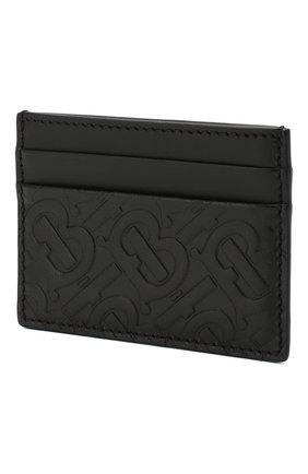 Мужской кожаный футляр для кредитных карт BURBERRY черного цвета, арт. 8017648 | Фото 2