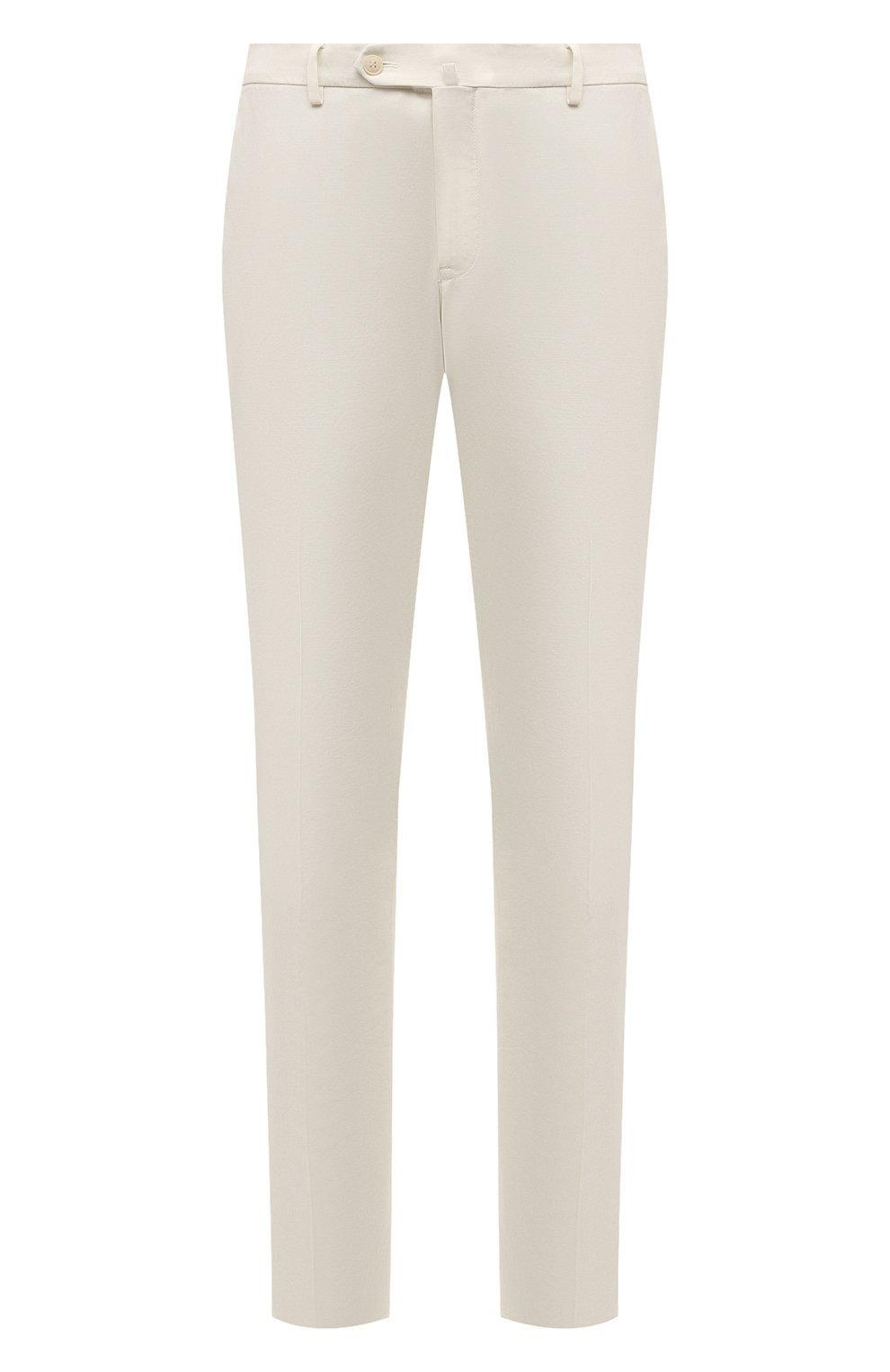 Мужские хлопковые брюки LORO PIANA белого цвета, арт. FAE8346 | Фото 1