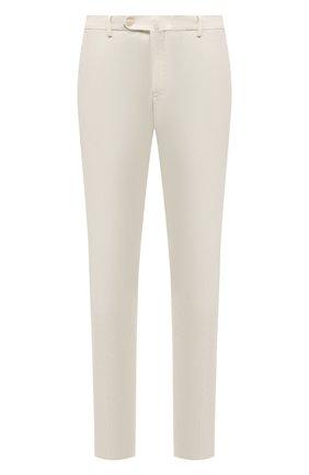 Мужской хлопковые брюки LORO PIANA белого цвета, арт. FAE8346 | Фото 1