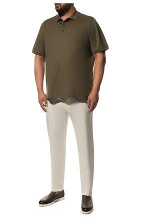 Мужской хлопковые брюки LORO PIANA белого цвета, арт. FAE8346 | Фото 2