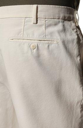 Мужские хлопковые брюки LORO PIANA белого цвета, арт. FAE8346 | Фото 5