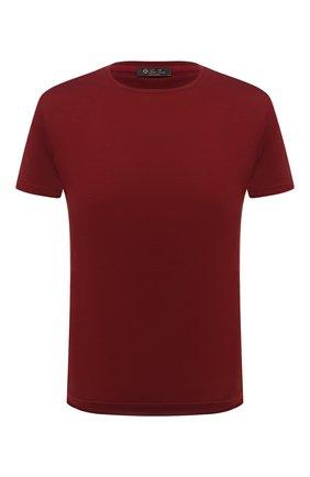 Мужская футболка из шелка и хлопка LORO PIANA красного цвета, арт. FAF6128 | Фото 1