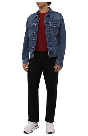 Мужская футболка из шелка и хлопка LORO PIANA красного цвета, арт. FAF6128 | Фото 2