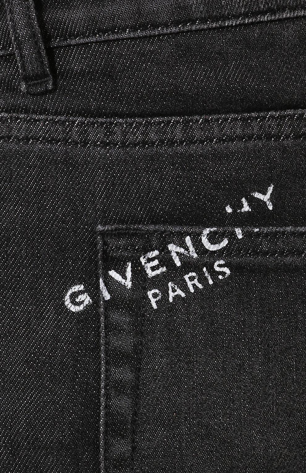 Мужские джинсы GIVENCHY черного цвета, арт. BM50DF50BJ | Фото 5