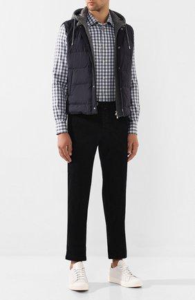 Мужская хлопковая рубашка KITON разноцветного цвета, арт. UMCNERH0442108   Фото 2
