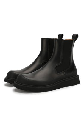 Мужские кожаные челси BOTTEGA VENETA черного цвета, арт. 578296/VIFH0 | Фото 1