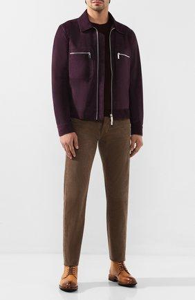 Мужской хлопковые брюки TOM FORD бежевого цвета, арт. BTJ19/TFD002 | Фото 2