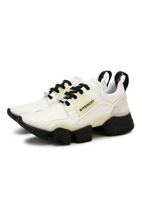 Мужские кожаные кроссовки jaw GIVENCHY белого цвета, арт. BH001NH0FD | Фото 1
