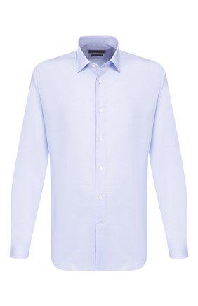 Мужская хлопковая сорочка CORNELIANI голубого цвета, арт. 84P010-9811269/00 | Фото 1