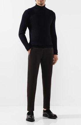 Мужской хлопковые брюки CORNELIANI коричневого цвета, арт. 844ET7-9820159/00 | Фото 2