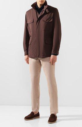 Мужские замшевые пенни-лоферы BRUNELLO CUCINELLI коричневого цвета, арт. MZUC0BB946 | Фото 2