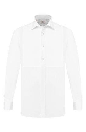 Мужская хлопковая сорочка LUIGI BORRELLI белого цвета, арт. EV28/LA SCALA+LUCIAN0/TS10000   Фото 1