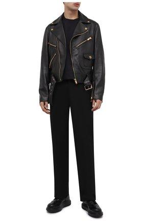 Мужские кожаные дерби ALEXANDER MCQUEEN черного цвета, арт. 586200/WHX53 | Фото 2