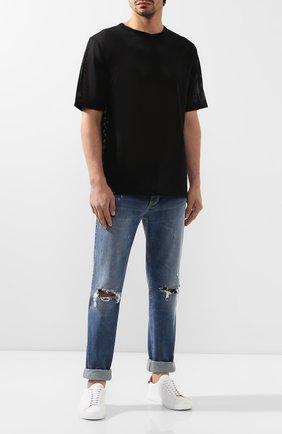 Мужская футболка CALVIN KLEIN черного цвета, арт. KM0KM00332 | Фото 2