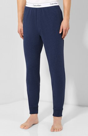 Мужские хлопковые домашние брюки CALVIN KLEIN синего цвета, арт. NM1582E | Фото 3