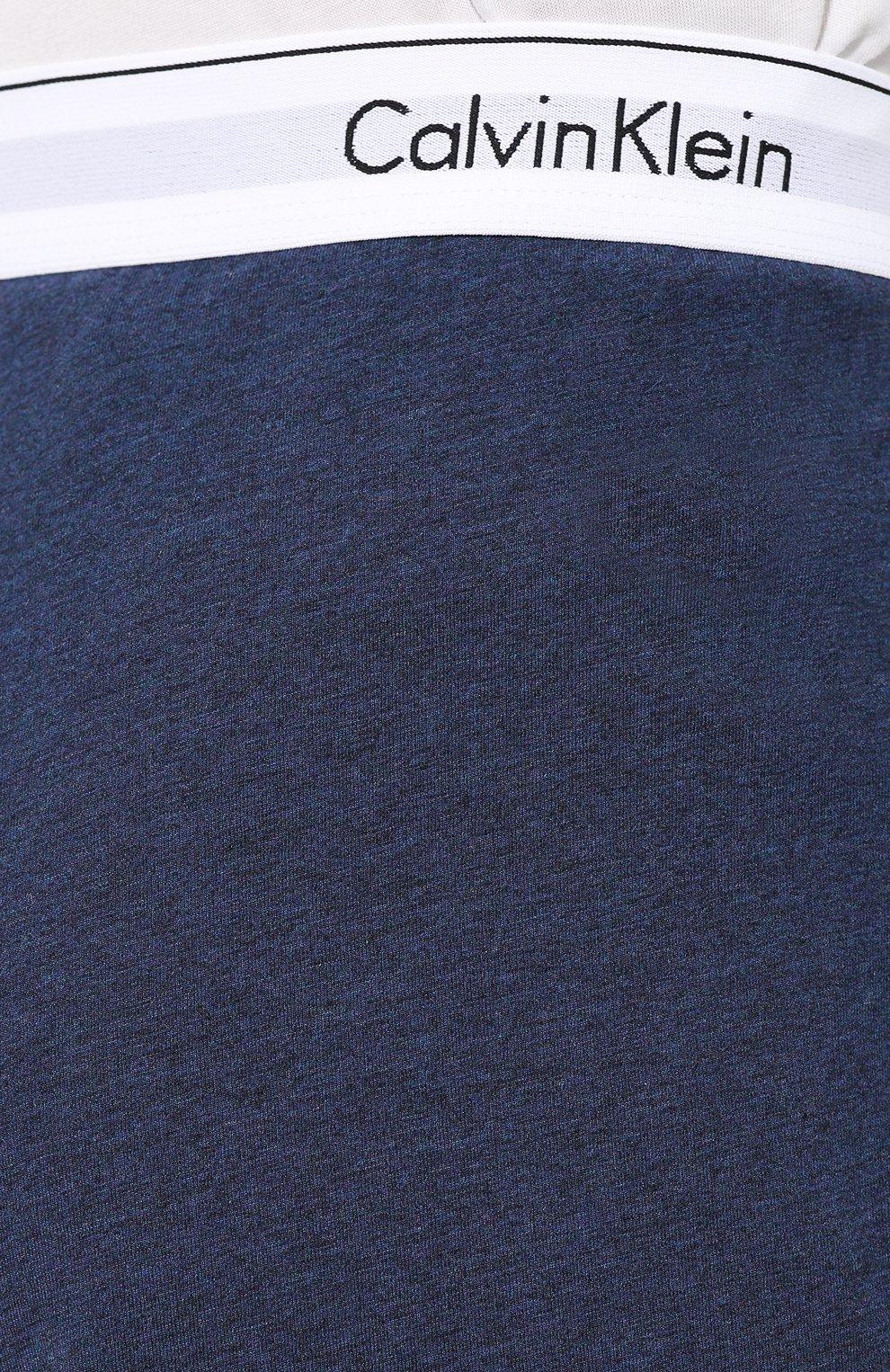 Мужские хлопковые домашние брюки CALVIN KLEIN синего цвета, арт. NM1582E | Фото 5