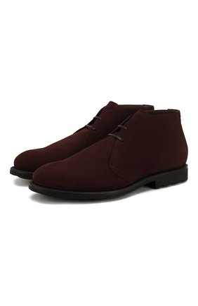 Мужские замшевые ботинки BARRETT бордового цвета, арт. 142U025.23/CARDIF | Фото 1