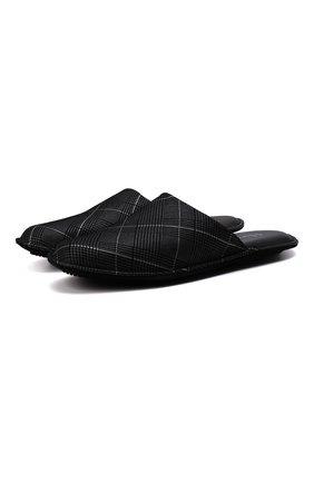 Мужского кожаные домашние туфли HOMERS AT HOME серого цвета, арт. 12045/SC0TTISH | Фото 1