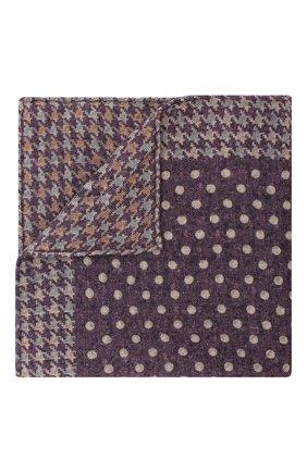 Мужской шерстяной платок BRUNELLO CUCINELLI фиолетового цвета, арт. ML8420091 | Фото 1