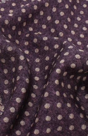 Мужской шерстяной платок BRUNELLO CUCINELLI фиолетового цвета, арт. ML8420091 | Фото 2