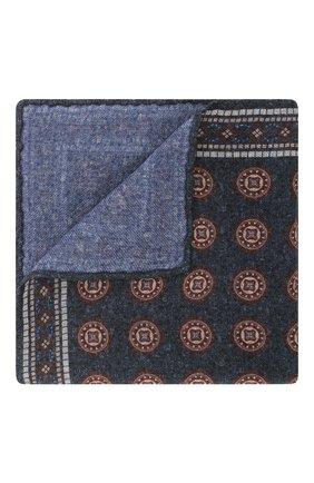 Мужской шерстяной платок BRUNELLO CUCINELLI синего цвета, арт. ML8430091 | Фото 1