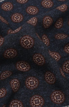 Мужской шерстяной платок BRUNELLO CUCINELLI синего цвета, арт. ML8430091 | Фото 2