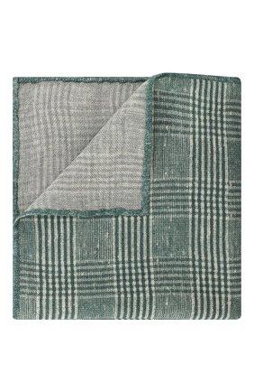 Мужской шерстяной платок BRUNELLO CUCINELLI зеленого цвета, арт. ML8460091 | Фото 1