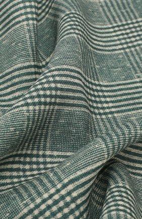 Мужской шерстяной платок BRUNELLO CUCINELLI зеленого цвета, арт. ML8460091 | Фото 2