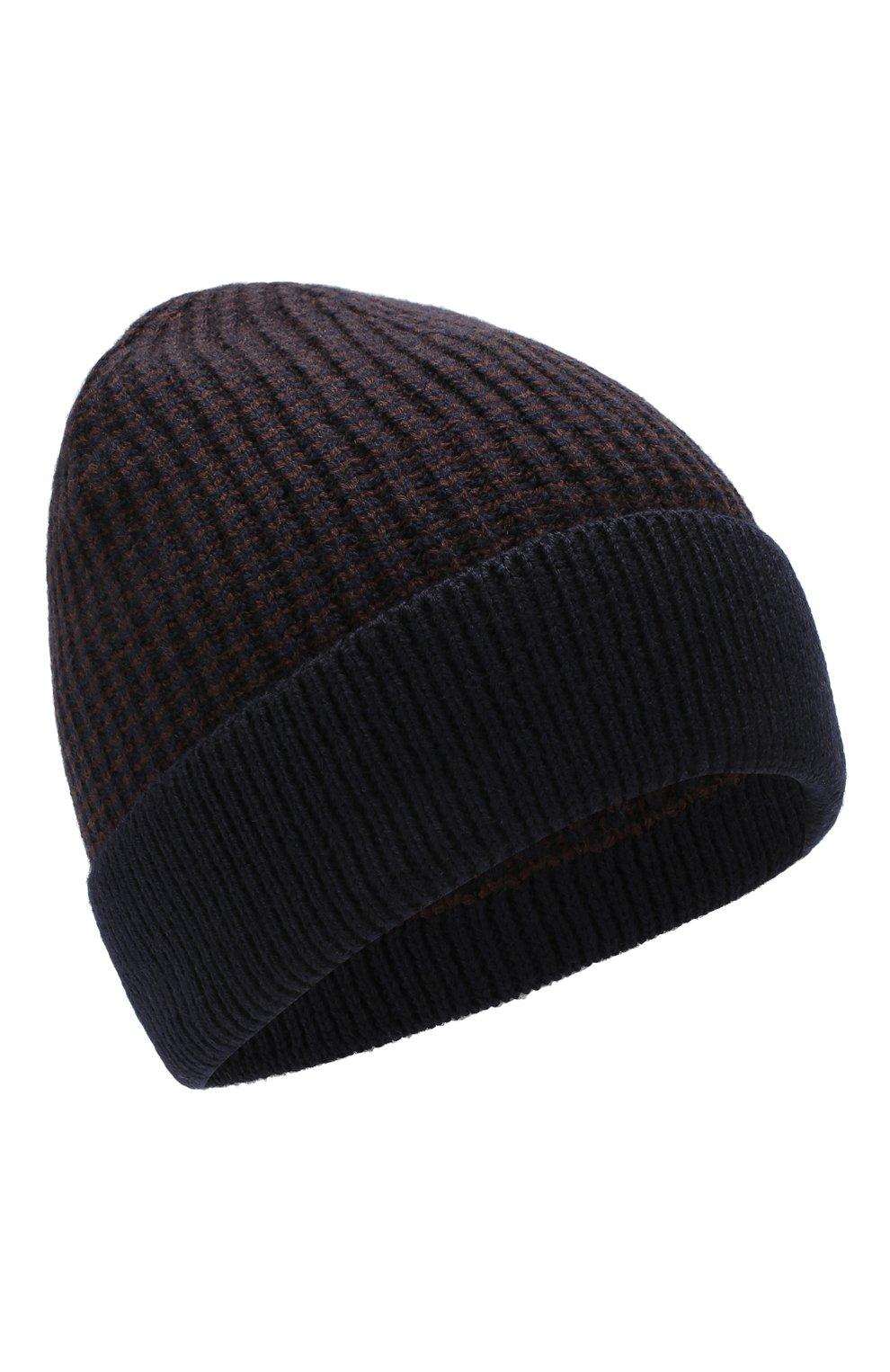 Мужская шерстяная шапка BOSS темно-синего цвета, арт. 50416291 | Фото 1