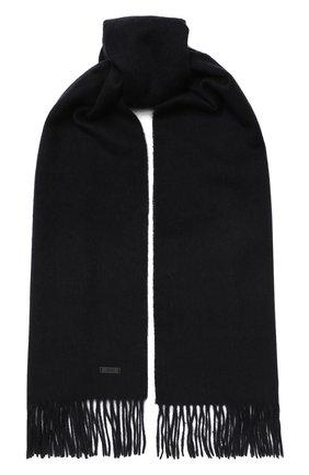 Мужской шерстяной шарф BOSS темно-синего цвета, арт. 50415023 | Фото 1