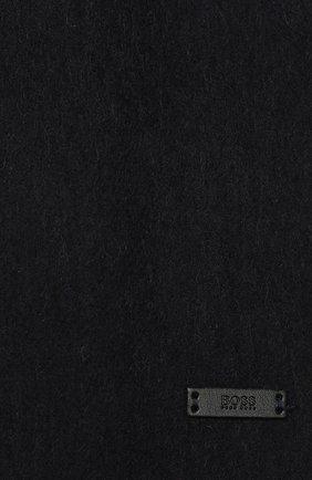 Мужской шерстяной шарф BOSS темно-синего цвета, арт. 50415023 | Фото 2
