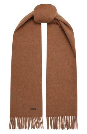 Мужской шерстяной шарф BOSS бежевого цвета, арт. 50415073   Фото 1