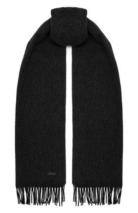 Мужской шерстяной шарф BOSS черного цвета, арт. 50415073 | Фото 1