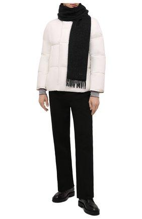 Мужской шерстяной шарф BOSS черного цвета, арт. 50415073 | Фото 2