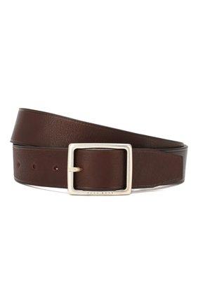 Мужской кожаный ремень BOSS коричневого цвета, арт. 50419342 | Фото 1