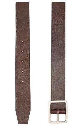 Мужской кожаный ремень BOSS коричневого цвета, арт. 50419342 | Фото 2
